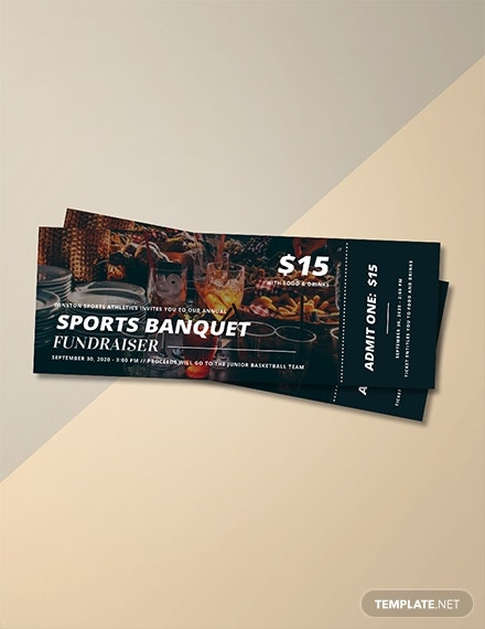 sports banquet ticket template 1x
