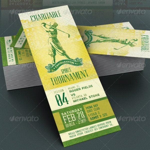 sports event fundraising ticket format