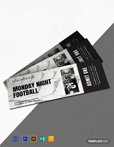 sports ticket invitation template