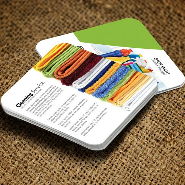 square cleaning services business card