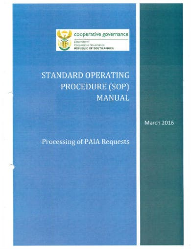 standard operating procedure 01