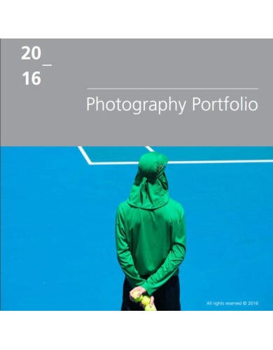 standard photography portfolio template