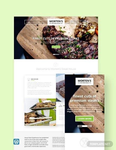 steak house wordpress theme template