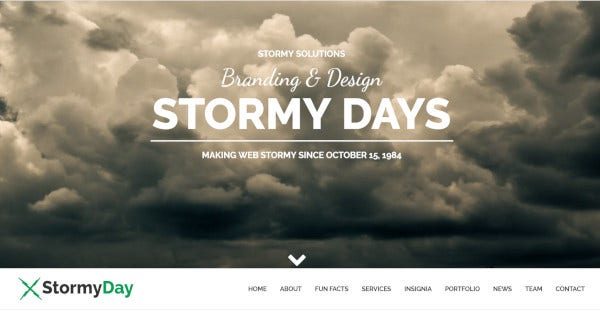 StormyDay – Customizable WordPress Theme