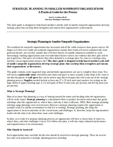 strategic-plan-in-smaller-nonprofit-organizations