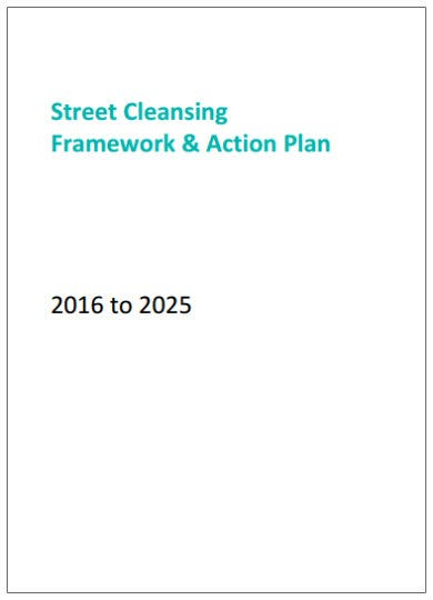 street cleaning action plan template