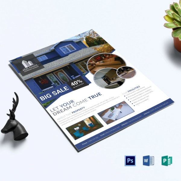stylish real estate flyer example
