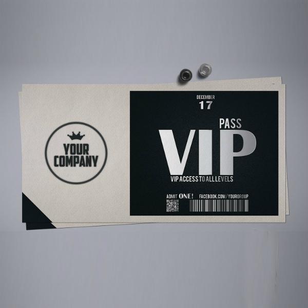 stylish simple vip ticket sample