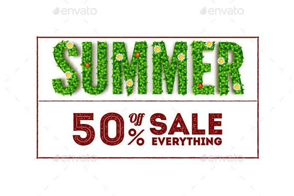 summer sale advertising banner