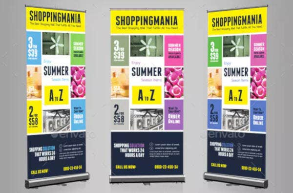 summer sale rollup banner