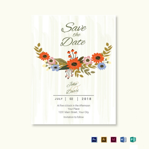 summer wedding save the date format