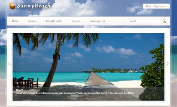 sunnybeach-translation-ready-wordpress-theme