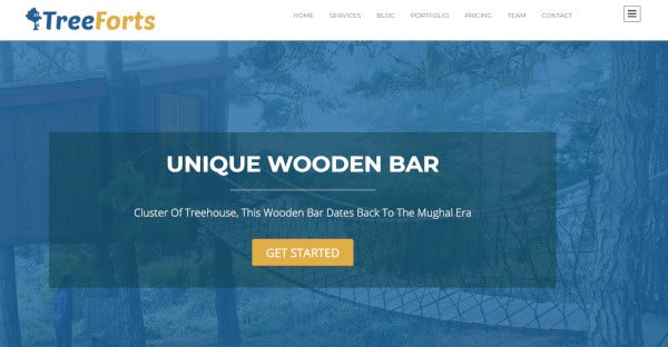 TREE FORTS - User-Friendly WordPress Theme