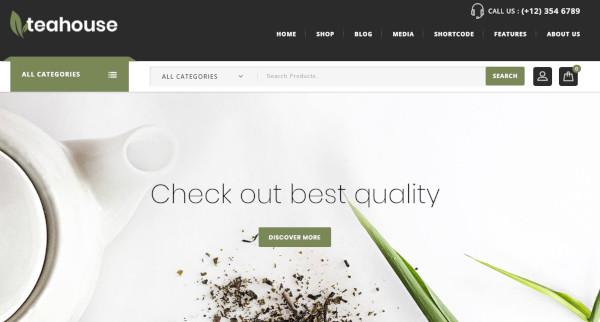 teahouse – mobile friendly wordpress theme