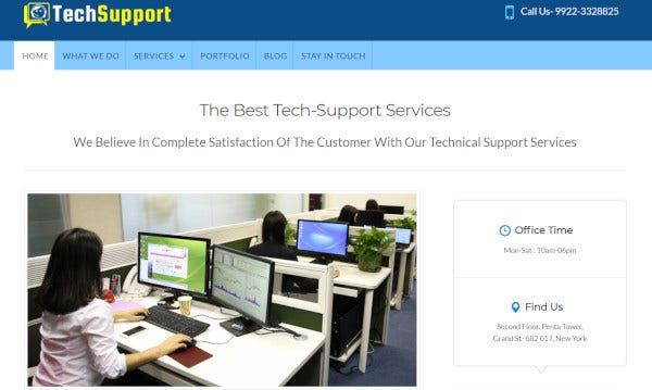 tech support – custom wordpress theme1