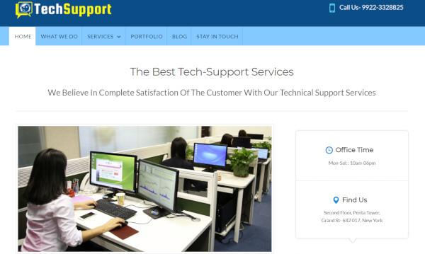 tech-support-custom-wordpress-theme