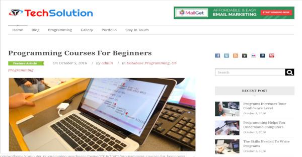 techsolution seo friendly wordpress theme