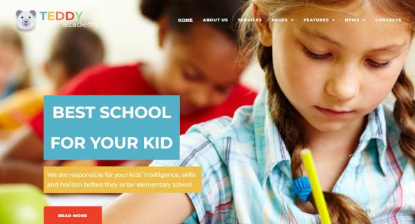 teddy academy integrated google fonts wordpress theme