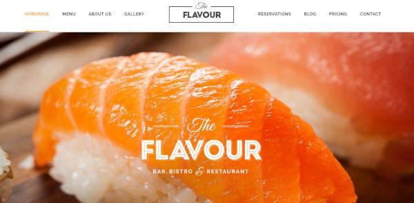 the flavour woocommerce wordpress theme