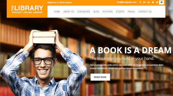 the library – retina ready wordpress theme