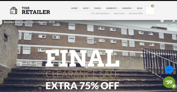the retailer – typography wordpress theme