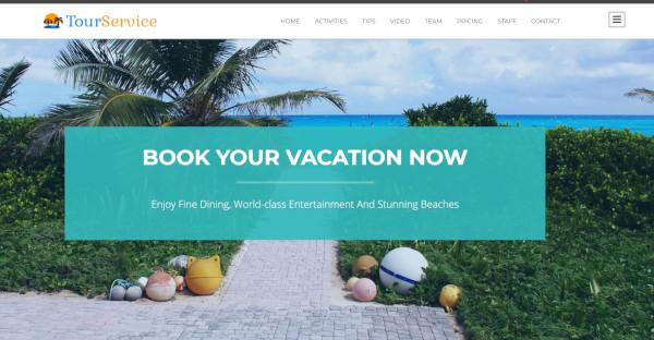 tour service – mobile friendly wordpress theme