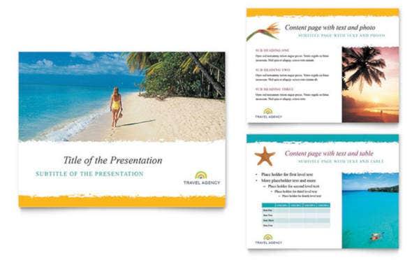 Travel Agency Sales PowerPoint Presentation