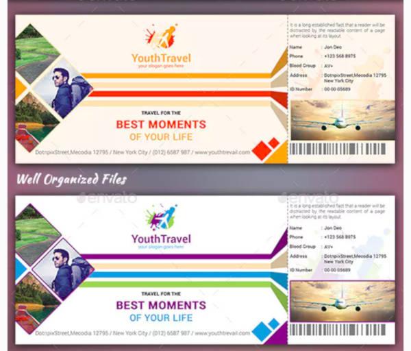 travel ticket design