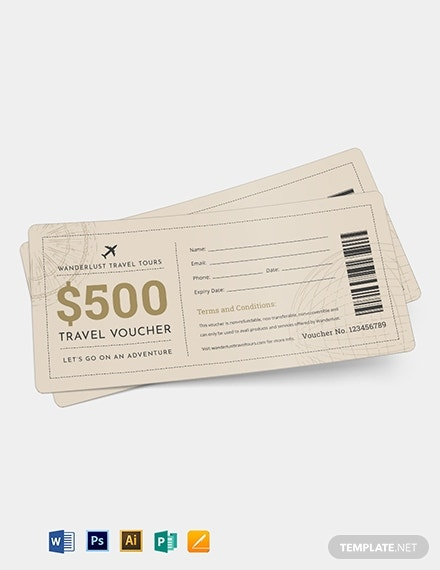 travel ticket voucher template 1