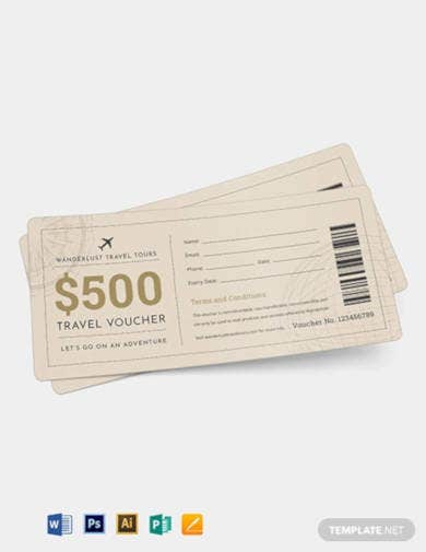 travel ticket voucher template
