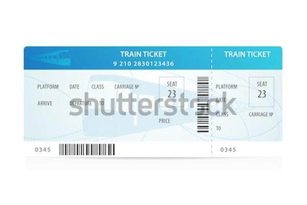 travel train ticket template