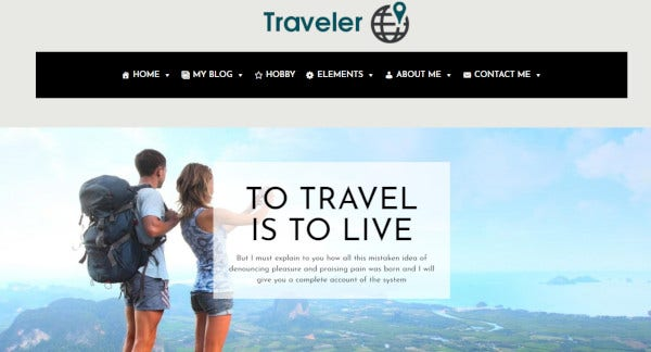 traveler bootstrap wordpress theme