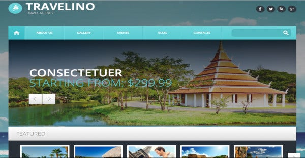 travelino full screen background wordpress theme