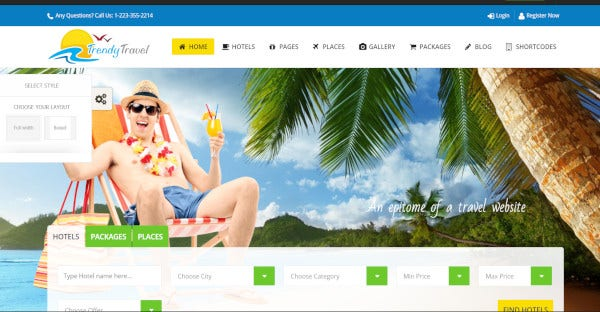 trendy travel – seo optimized wordpress theme