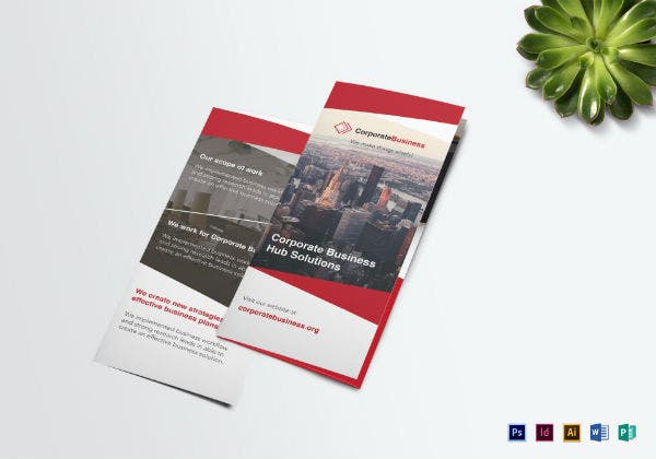 tri fold corporate event brochure template