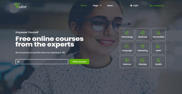 tutor click demo data import tool wordpress theme