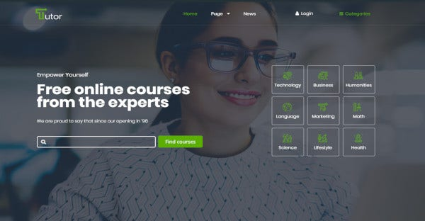 tutor seo friendly wordpress theme