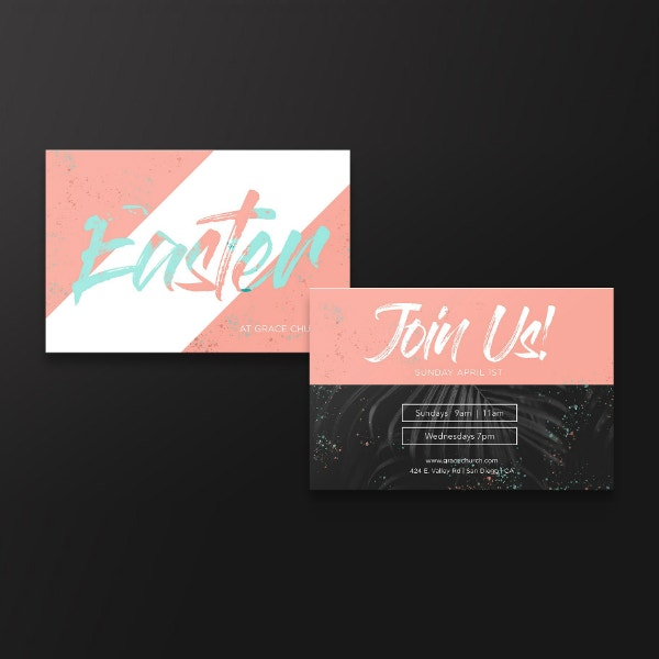 Typographic Easter Sunday Invitation Example
