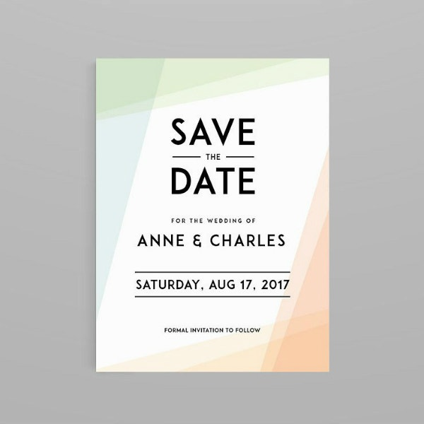 Typographic Wedding Save the Date Layout