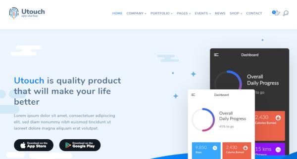 utouch startup wordpress theme