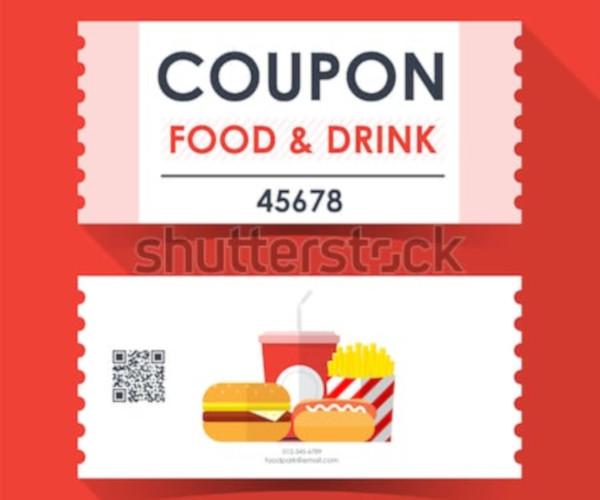 vector food ticket