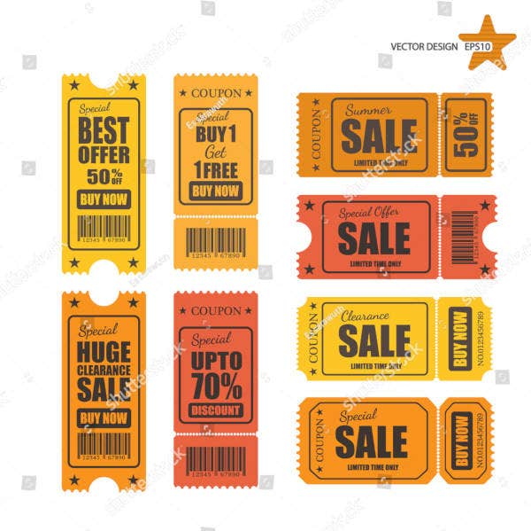 vector sale ticket