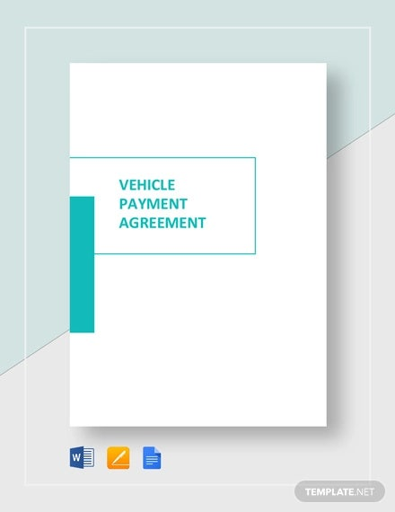 vehicle payment agreement template