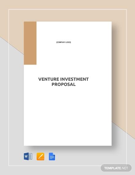 venture investment proposal