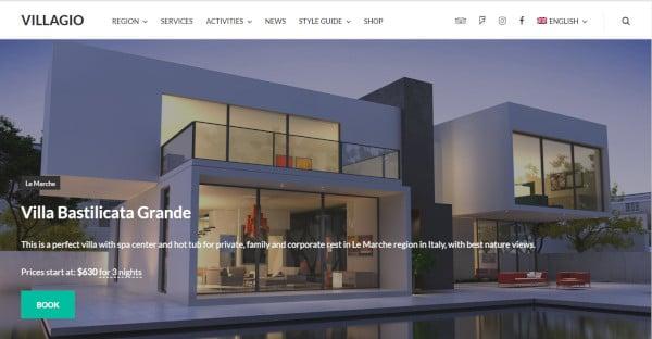 Villagio – Editable WordPress Theme