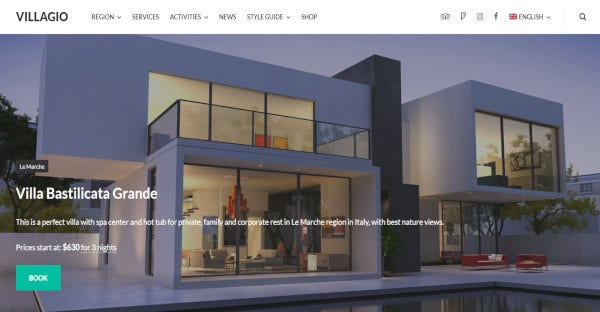 Villagio - Customized WordPress Theme