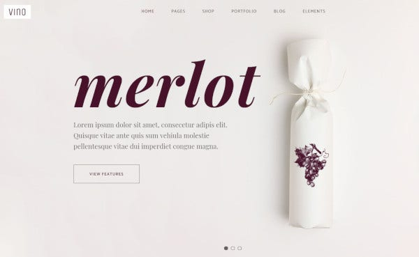 vino gutenberg enabled wordpress theme