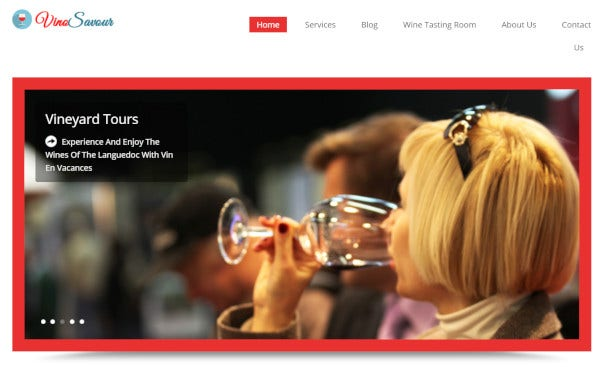 vinosavour highly customisable wordpress theme