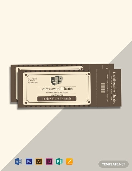 vintage admission ticket template