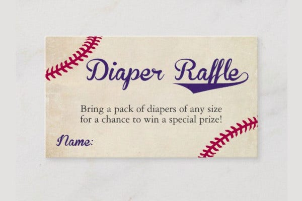 vintage baseball raffle ticket